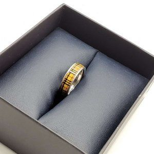 Authentic Burberry Silver Classic Ring